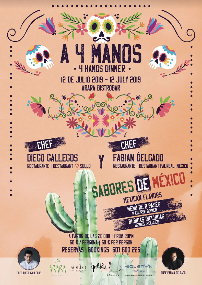Cartel 4 manos arara bistro bar